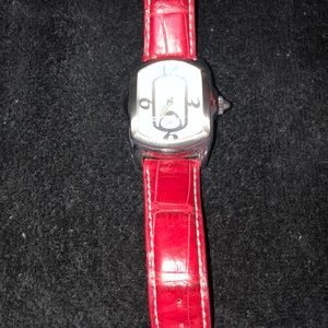 Invicta watch with red alligator band